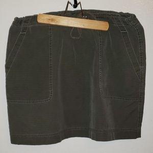 Jcrew olive green drawstring short skirt
